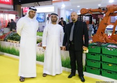 Adil Alhardi with Mohammed Alamiri (Acting Deputy Director - Agricultural Operations) and Rami Jamal (Managing Director), both from Elite Agro (Abu Dhabi)