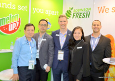 The team of Robinson Fresh with Samuel Tan Yong An, Charlie, Patrick Kelly, Lo Song and Tim Nuss. The company exports avocado, citrus and grapes to the Asian market.