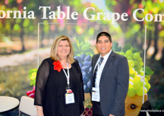 Susan Day, Vice President, and Fabian Garcia, Assistant Director, of the California Table Grape Commission. Californian grapes are popular in China, and can be found on sale across the country.