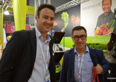 Cameron Carter and Michael Franks from Seeka were visiting the tradefair.