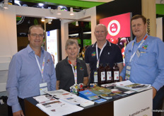 Barisha Batinich from Valley Fresh Cherries with Madelein and Peter Kennedy and Trevor Hall from Hallmark Cherries.