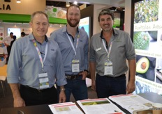 John Tyas and Andrew Serra from Avocados Australia who put paid to the myth that Aussies drink coffee from scooped out avos!! with Joseph Ekman from Fresh Produce Group.