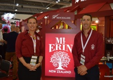 Vanessa Shoemark and Stuart Kilmister from Mt Erin were at the event for the first time, it is a small family apple growing business.