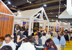 Joy Wing Mau's stand was fully occupied almost throughout the exhibition. This year the company is celebrating its 20th anniversary. Its Joyvio fruit brand is one of the stronger fruit brands in China, enabling the company to give premium returns to its blueberry and durian growers.
