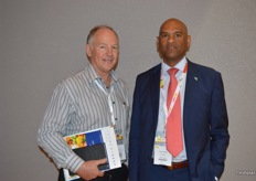 Justin Chadwick from Citrus Growers South Africa with Lucien Jansen from the PPECB.