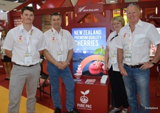 Pure Pac, a company recently formed by 8 New Zealand cherry growers to grow and market premium cherries to the world. James Huffadine - Orchard Manager, Ross Kirk - Packhouse and Project Manager, Hilary Evan - Grower/Director and Murray Little - Grower/Director.