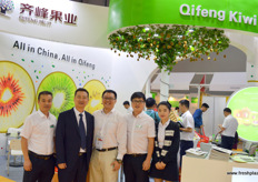 The management and international sales team of Qifeng Fruit, grower and distributor of premium Chinese kiwifruit from Shaanxi and Sichuan province.