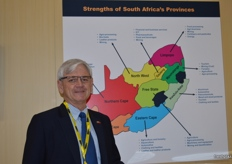 Anton Kruger from South Africa's FPEF promoting the country's exports.