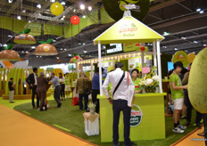 The Zespri stand, busy as ever.