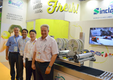The team of Sinclair with second from right Jin Han, responsible for the companies sales and marketing in Mainland China.
