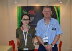 Angie Green and Gary Britz from Ele trading had a stand on the new look South African Pavilion.