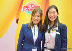 Sophy of Goodfarmer together with Winsy Fung of the Messe Berlin.