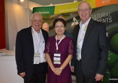 Recruitment firm Agricultural Appointments was at the Asia Fruit Logistica for the first time and were kept very busy with potential clients at the stand. Brett Price, Annie Fu and Ray Johnston.