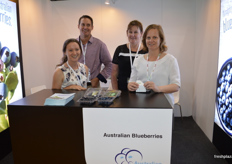Melinda Simpson - Australian Blueberries, Adam Coleman, Gabrielle Oriel and Janine Percy from New South Wales Department of Primary Industries.