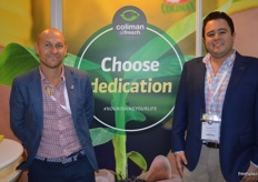 Allfresch were together with Coliman on a stand after a recent partnership announcement. Andrew Sperling from Allfresch with Jorge Angel Aguilar from Coliman.