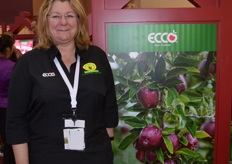 Jamiee Burns from JR's Orchards was at the show for the first time and was kept very busy.