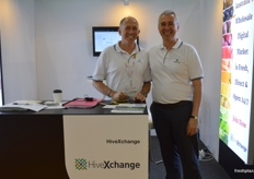 Gary Dickenson and Antonio Palanca from HivExchange. They have launched an online platform for Australian growers to sell on the Chinese market.