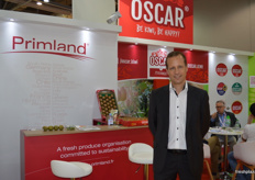 Jean-Baptiste Pinel at the Primland stand.