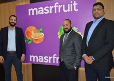 Mohamed Gonbour, Zine Zouggari and Hamdy Ahmed at MasrFruit. Promoting Egyptian oranges into China, the company exported a small amount this season and it was very successful.