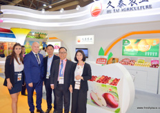 The international sales and sourcing team of Jiu Tai Agriculture. Second of right is Henry Wang, Director of international business.