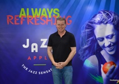 Darren Drury at T&G Global, with the new Jazz apple branding.