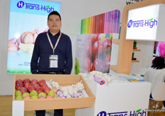 Bill Li, sales manager at Jining Trans-High Trading, exporter of Chinese fruits and vegetables.