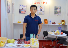 Max Liu of Chinese fruit producer and export company Shandong Super Me Import & Export.