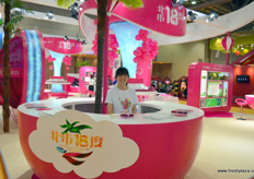 Eye popping pink at Hainan North Lattitude 18˚ Orchard, a grower of dragon fruit on Hainan, an island in Southern China. The company does not export and only attends Hong Kong Fruit Logistica to meet with Chinese domestic buyers and traders.