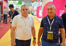 Small Russian delegation with Akhmed Musaev, president, and Asif of Akhmed Fruit Co. The company is head quartered in Saint-Petersburg.