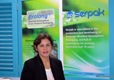 Export Manager Naz Akbulut of Serpak (Turkey); Serpak is looking for more opportunities in both Asia and South America.