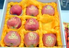 Sun coloured Chinese apples.