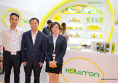 Gang Luo, to the left, is the vice general manager of Holemon. Holemon is a grower and exporter of chinese lemons and lemon products.