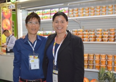 Sun Moon (Singapore) Business Development Manager Amy Teo with Jane Maclean of Bostock (New Zealand).