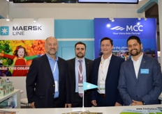 The gorgeous men of Maersk Line: Head Reefer Sales (USA) Vincent Rankin; BCO Sales Manager (Mexico) Kenneth Bech; Commercial Planning Manager Gareth Madsen (Denmark) and Sales Manager Jorge Davila (Ecuador).