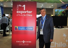 Ronald Brown, Chairman of the Board, Chilean Fruit Exporters Association ASOEX. Very proud promoting that Chile is the number 1 exporter of fruits to China.
