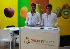 The brothers Juan and Manuel from Salixfruit, one of the new exhibitors this year.