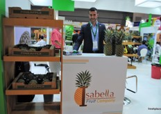 Sadi Cohen from the Isabella Fruit Company from Costa Rica, exporting pineapples.