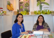 Vice President Export Liza Guinto with Export Manager Jennifer Palmera of SL Agrifood Corporation (Philippines).