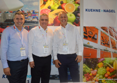 From Kuehne + Nagel: Director of Reefer & Perishables Phil Abraham with Senior VP Seafreight Frank Ganse and VP Global Reefer Sales Development Robert Mant.
