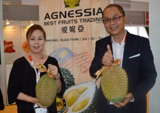 Albert Tan, director of Agnessia Best Fruits Trading (Malaysia) with his wife at Asia Fruit Logistica.