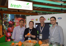 The Freshmax (Australia) team: Jacky Qin, Export Manager Patricia Bowlby, General Manager Will Snell and Export Assistant Manager Pasquale Demaria.