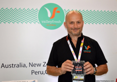 Anton Masutti, director of ValleyFresh New Zealand; ValleyFresh is currently busy with their blueberry season.