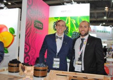 Quentin Gomis and Freddy Hoflack from H52, for the first time present at the Asia Fruit Logistica. Their most important fruit is the backberries, but have more berries in their assortment.