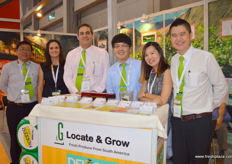 The Locate and Grow team with their CEO Enrique Barcelli (3rd - left).