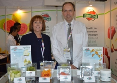 Marketing Director Karen Murphy (USA) and Research and Development Scientist Alan McGregor of AgriCoat - NatureSeal(UK).