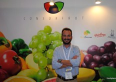 David Reynau from Consorfrut from Spain. However, as Argenti Lemon from Argentina is part of the some group it was a shared stand.
