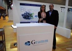 Patricia and Gabriel Wasserman from Gramm Agropecuaria, Argentina. Argentina is in the finalizing stage of opening the Chinese borders for blueberry export.
