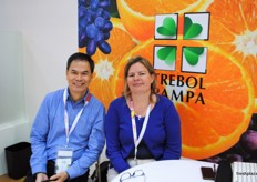Argentinian citrus producer Trebol Pampa was represented by Alfred Ho and Patricia Roux.