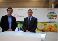 Ignacio Schatz the managing director with the Asia general manager Nicolas Rabinovich from CitrusSur, Argentina