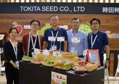 At the Tokita Seed Co. stand, a Japanese company specializing in seed varieties such as kabocha squash which is now available in Europe.